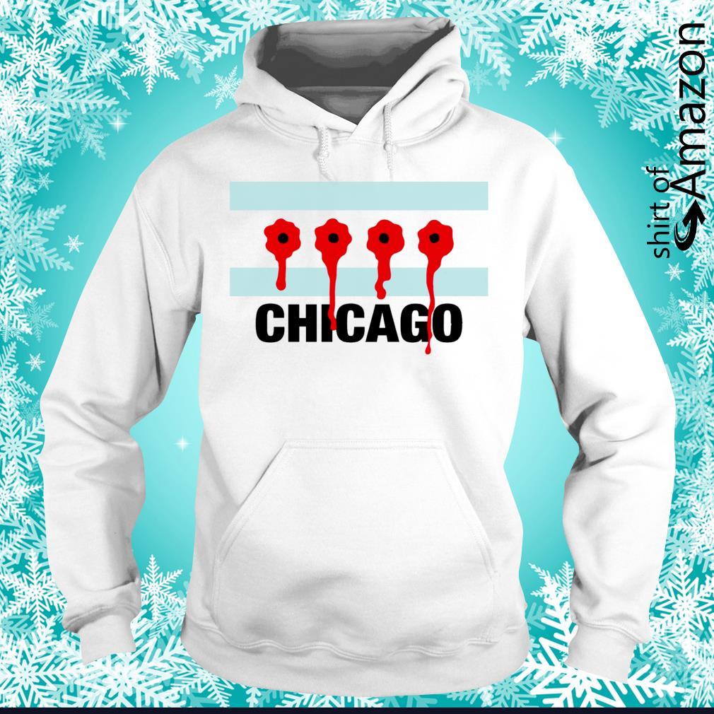 Chicago flag bullet holes hoodie