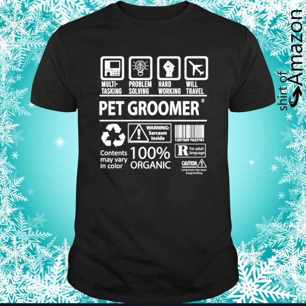 Pet groomer contents may vary in color shirt