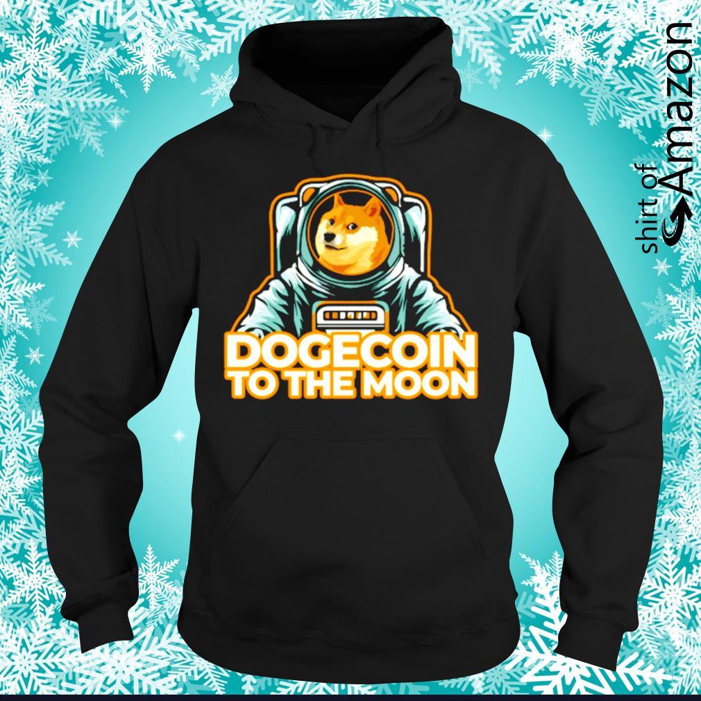 Shiba dogecoin to the moon hoodie