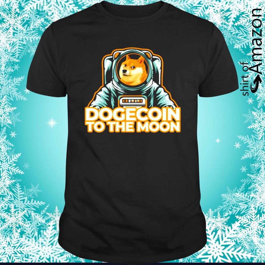 Shiba dogecoin to the moon shirt