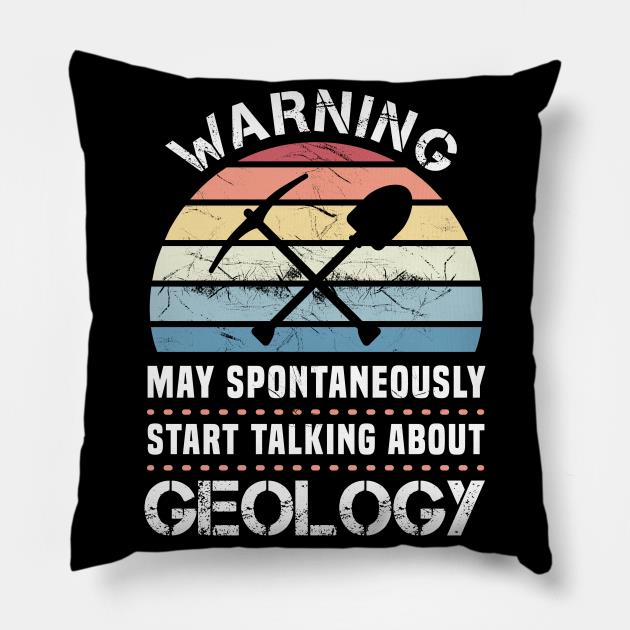 Funny Geology aunset gft for Geologist pillow