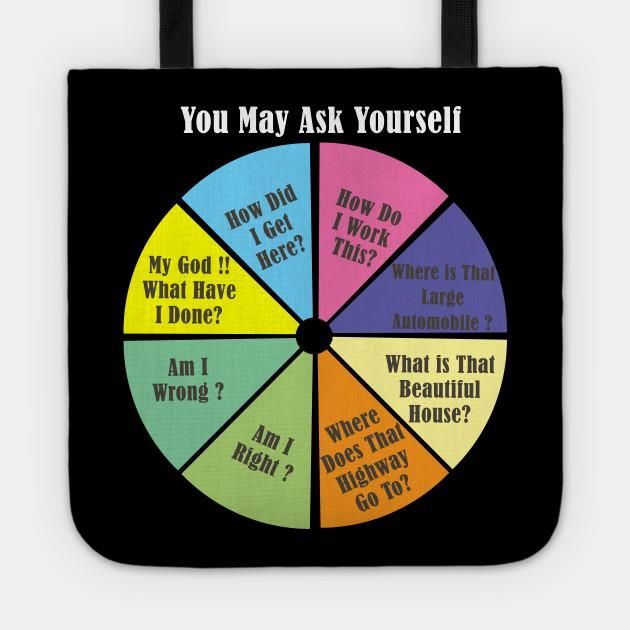 Once in a lifetime pie chart tote
