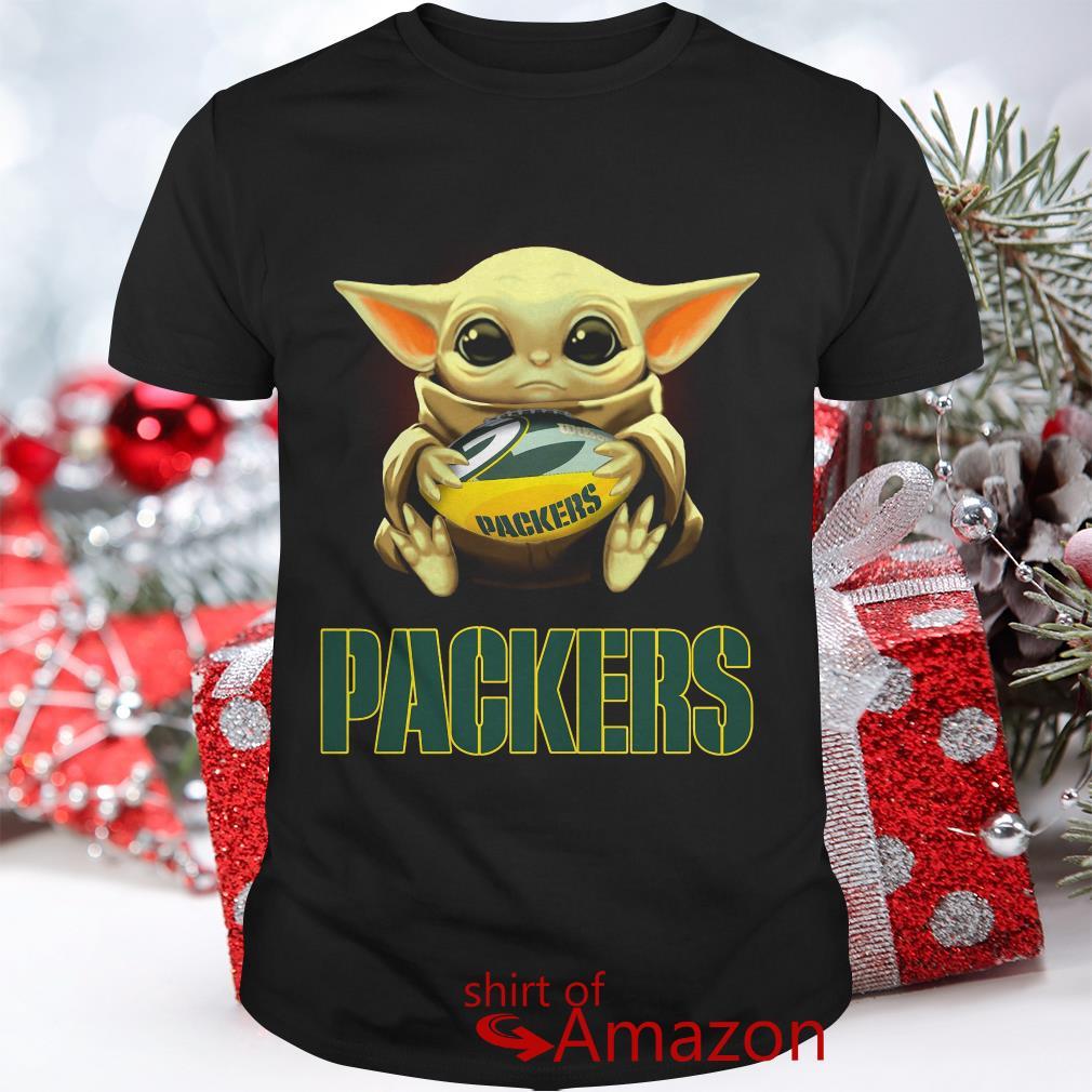 Baby Yoda Hug Green Bay Packers Shirt Hoodie Sweater Ladies Tee And Tank Top