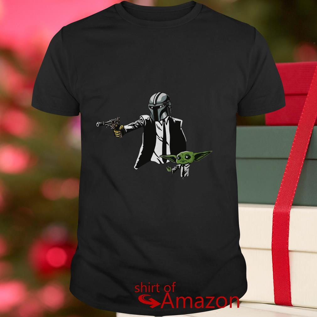 The Mandalorian and Baby Yoda Pulp Fiction Toddler T-shirt