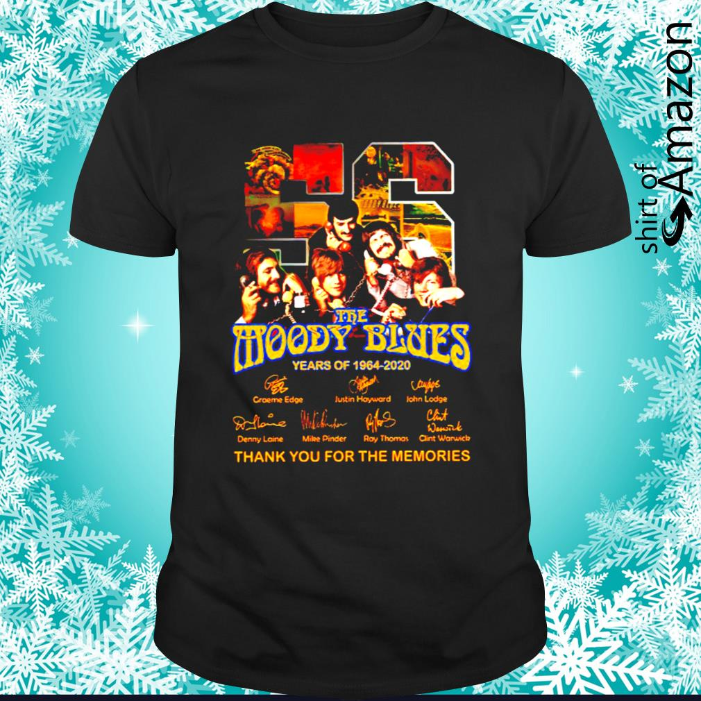 56 Years of 1994 2020 The Moody Blues thank you for the memories signatures shirt