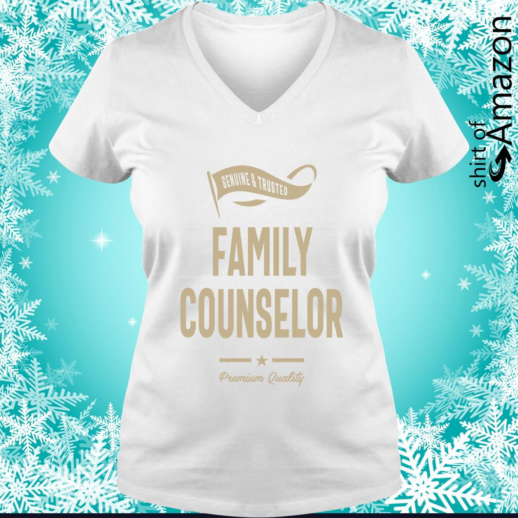 Genuine trusted Family counselor premium quality s v-neck-t-shirt