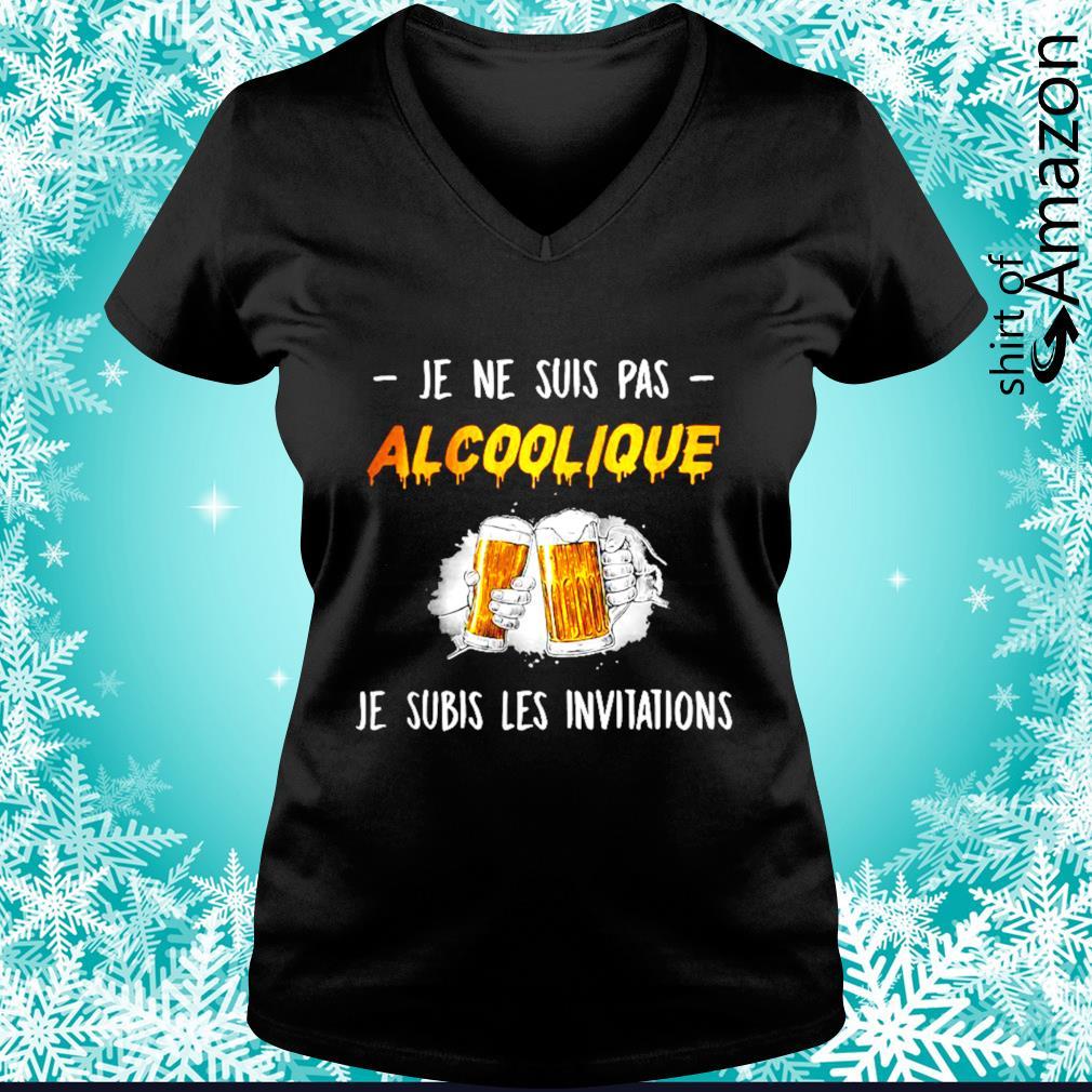 Je ne suis pas alcoolique je subis les invitations s v-neck-t-shirt