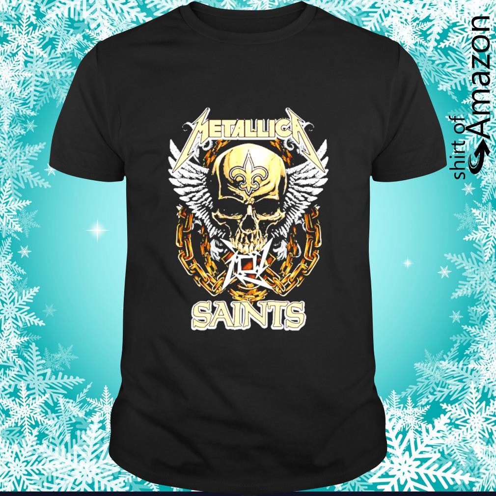 Metallica skull New Orleans Saints shirt