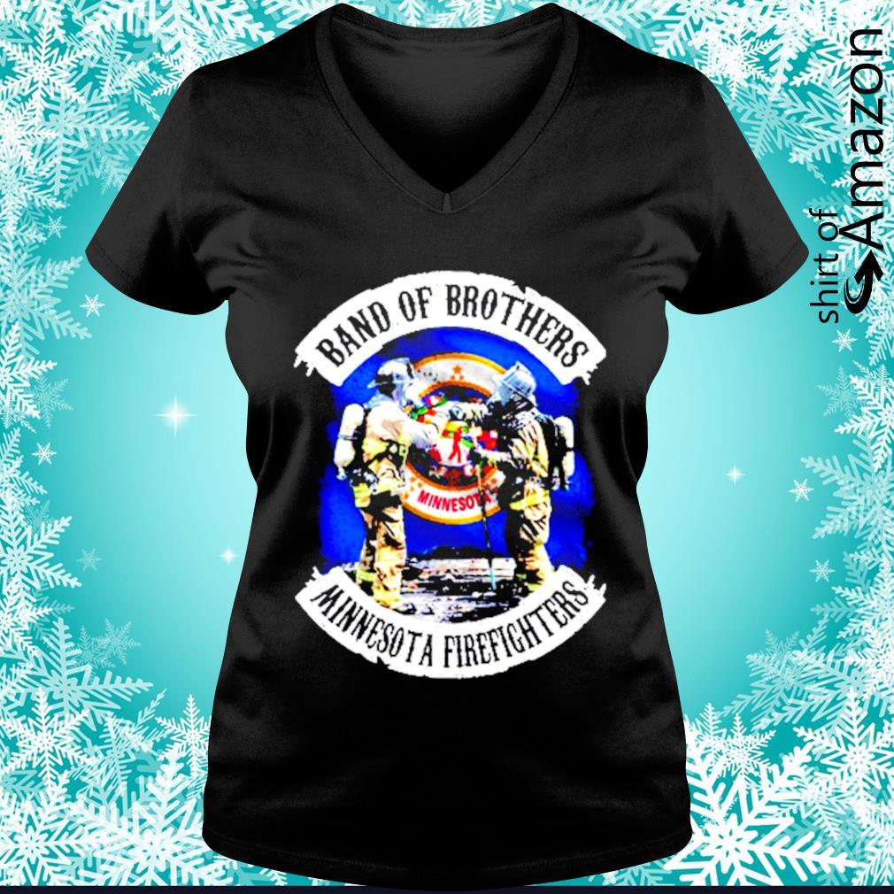 Minnesota Band of Brothers Minnesota firefighters s v-neck-t-shirt