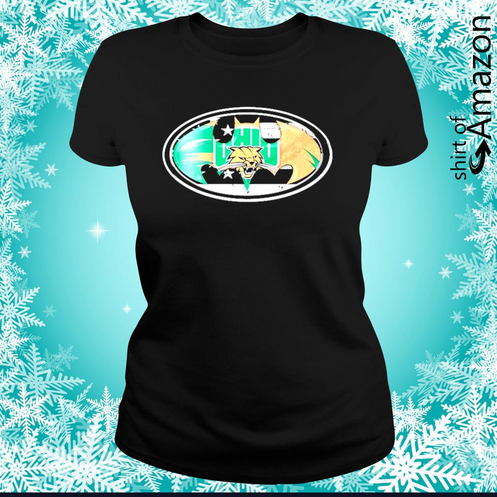 Ohio Bobcats Batman logo s ladies-tee
