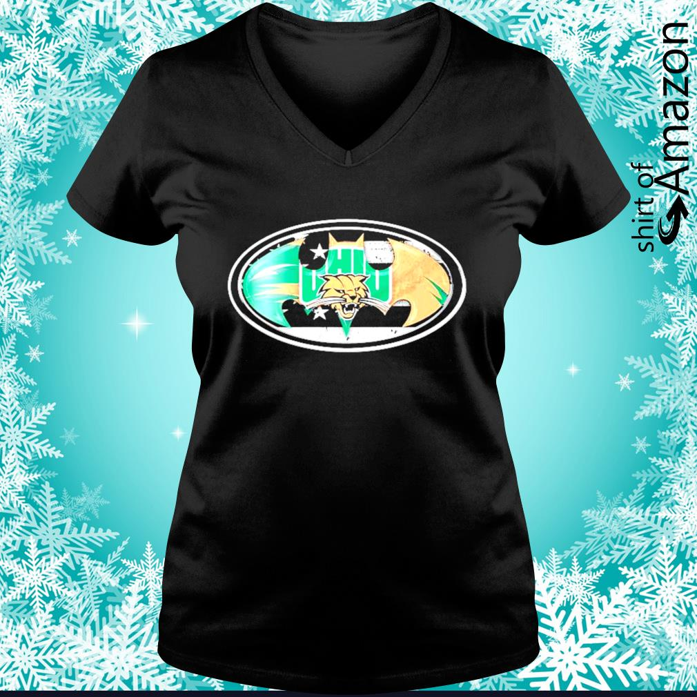 Ohio Bobcats Batman logo s v-neck-t-shirt