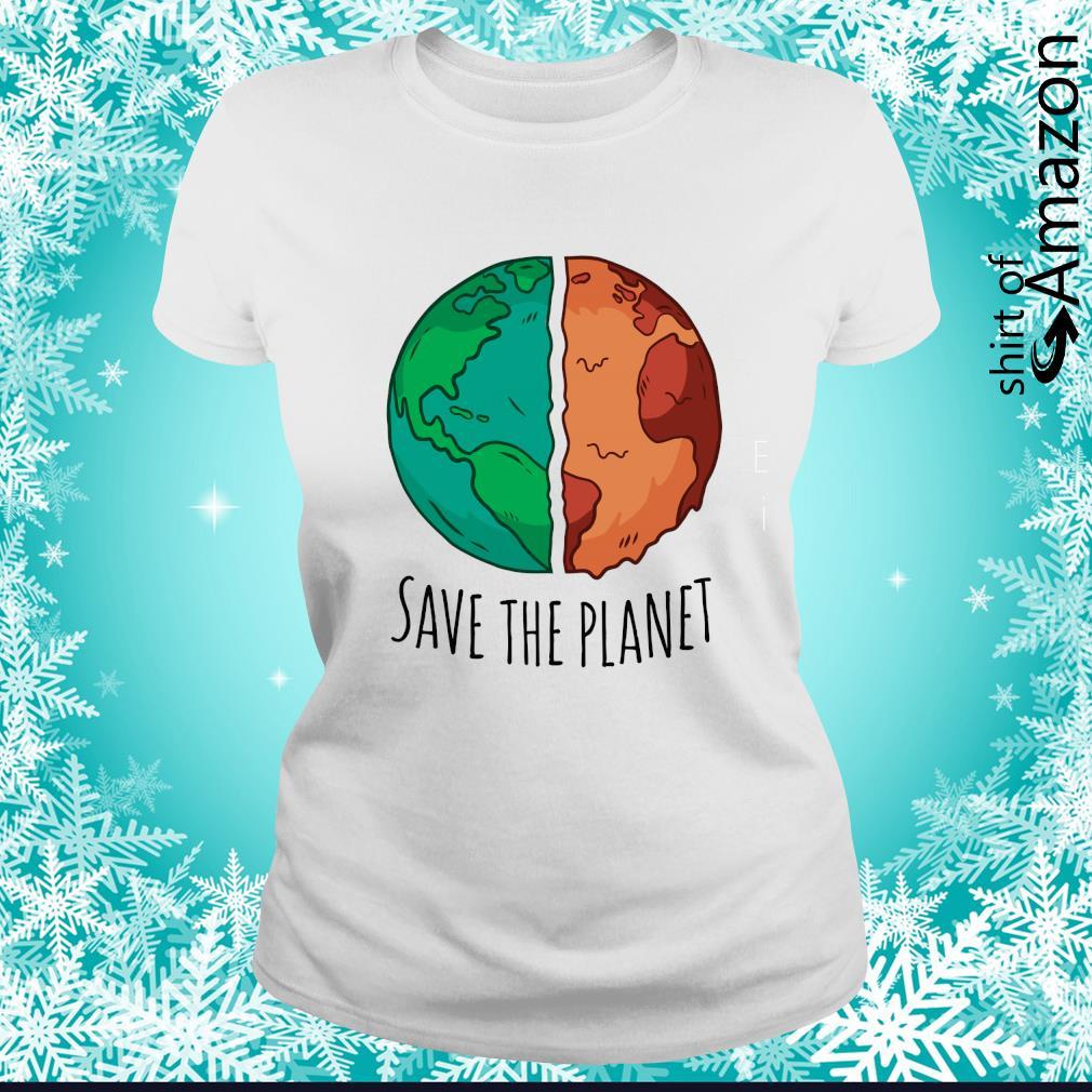 Save the planet s ladies-tee