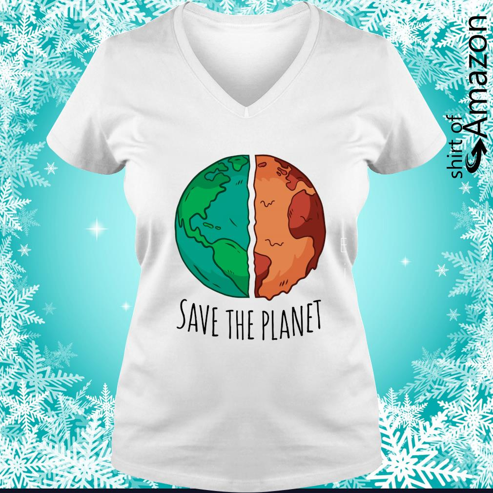Save the planet s v-neck-t-shirt