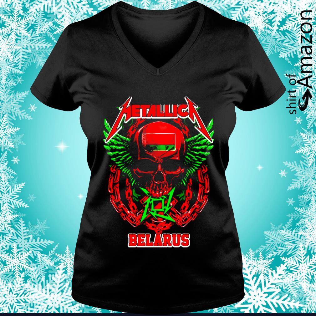 Skull Metallica Belarus s v-neck-t-shirt