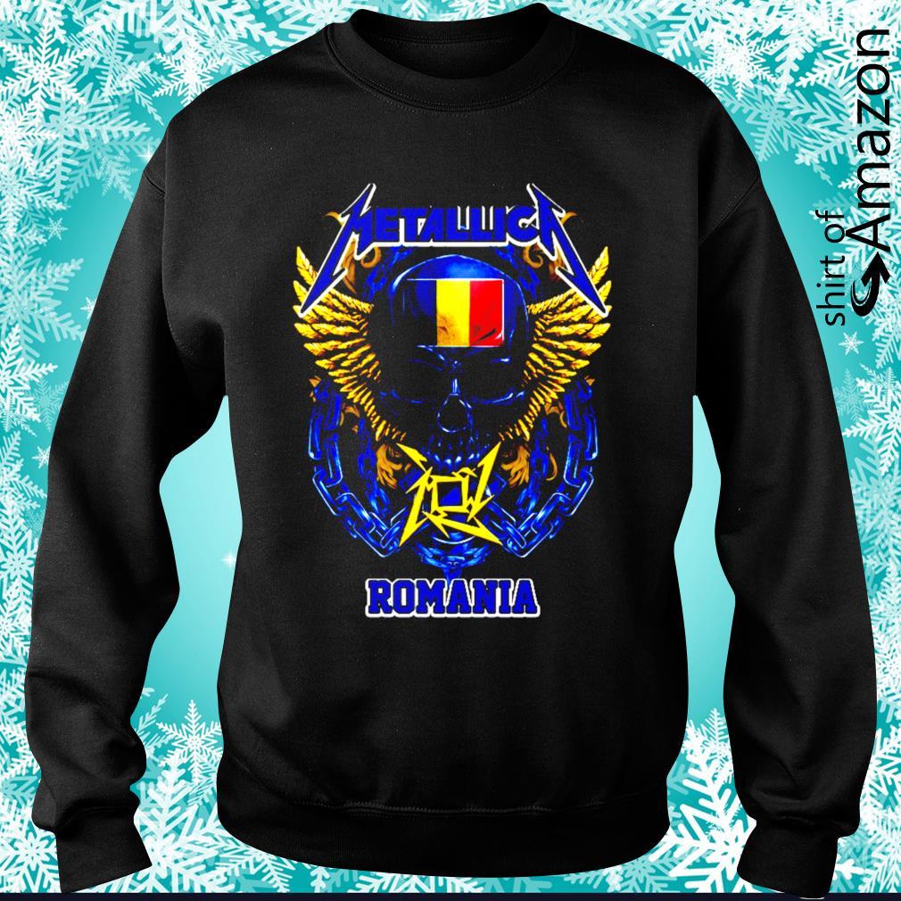 Skull Metallica Romania s sweater