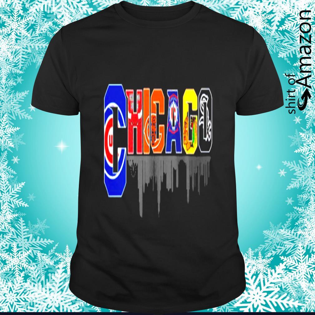 Chicago team player logo city town shirt