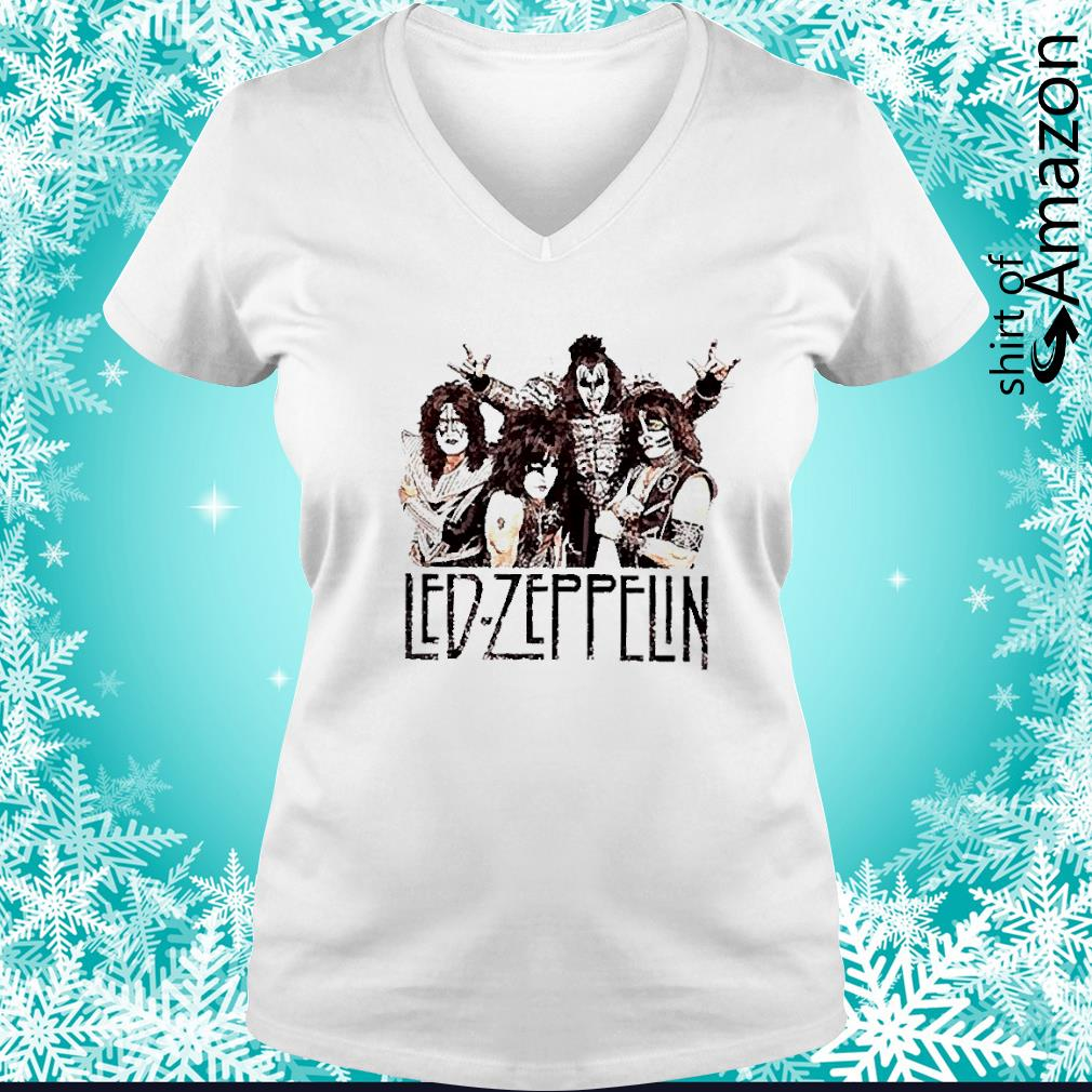 Led Zeppelin rock band s v-neck-t-shirt