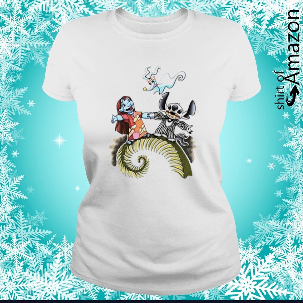 Lilo and Stitch as Jack and Sally Zero s ladies-tee