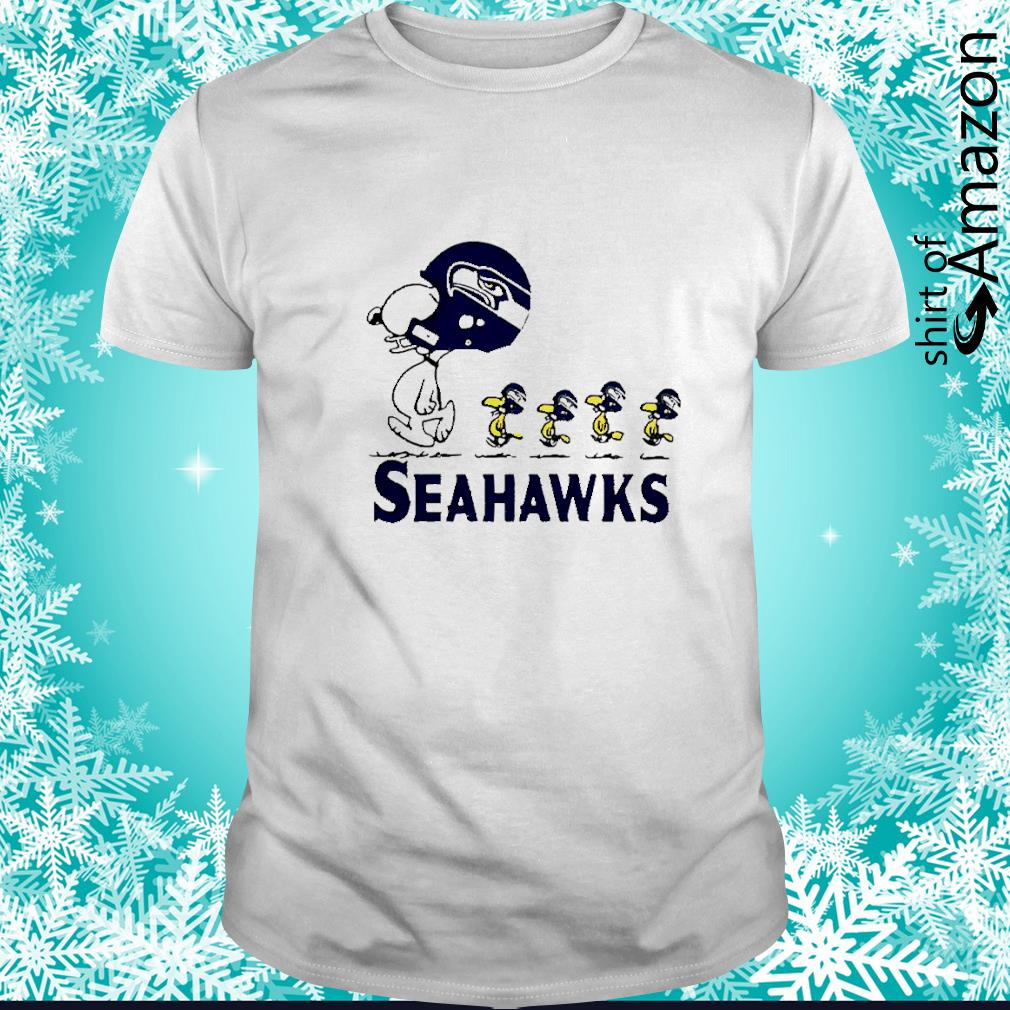 Snoopy and Woodstock player of Seattle Seahawks shirt