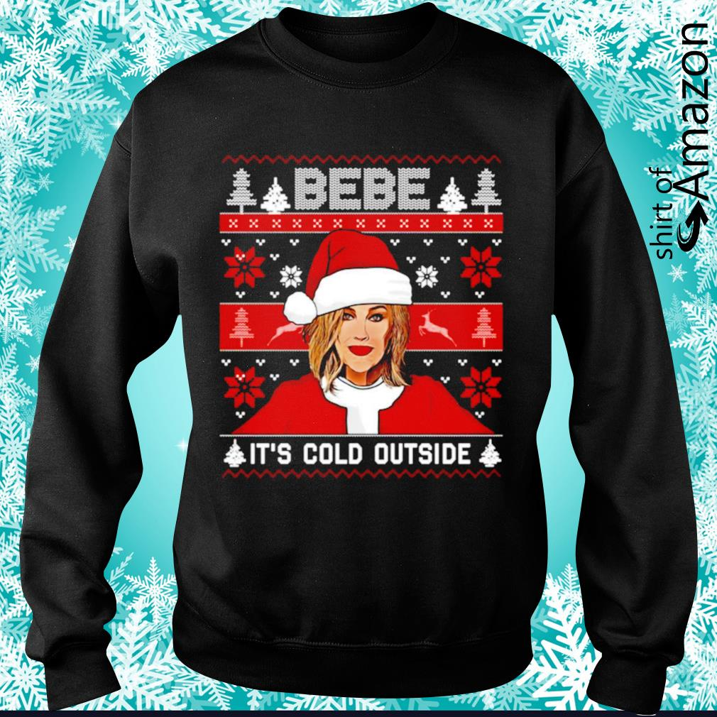 Bebe it's cold outside ugly Christmas s sweater