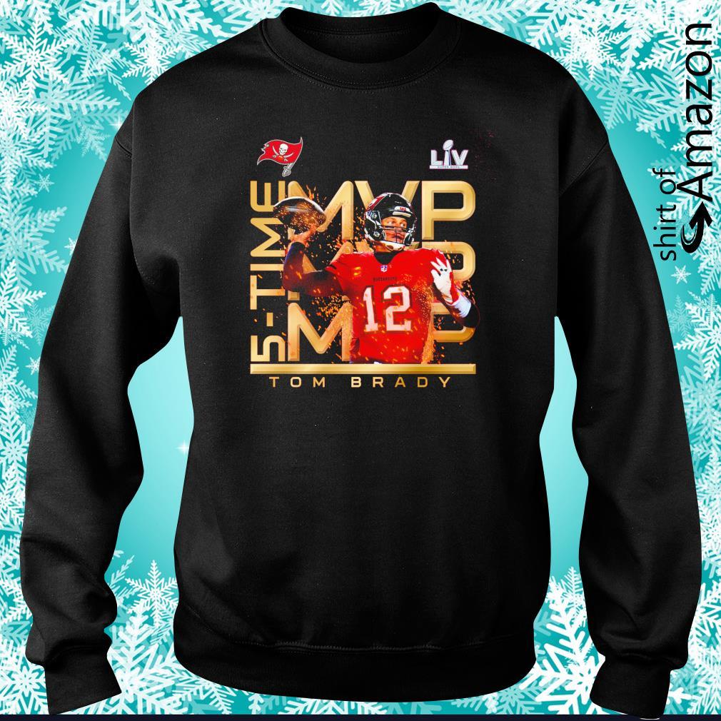 Tampa Bay Buccaneers Mvp 5 Time Tom Brady Super Bowl Lv Champion Shirt T Shirt At Fashion Llc [ 1010 x 1010 Pixel ]